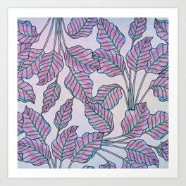 Colorful Caladiums Art Print