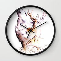 marauders Wall Clocks featuring The Marauders - We Are Wild by TheOddOwl