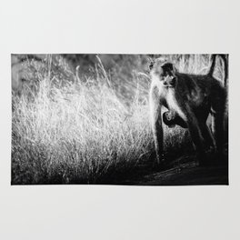 Mother and baby baboon Rug