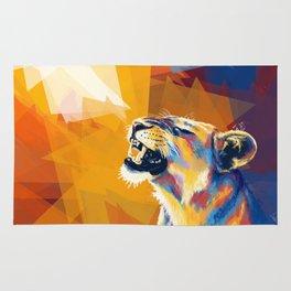 In the Sunlight - Lion portrait Rug