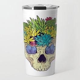 CRYSTAL CACTUS SKULL Travel Mug
