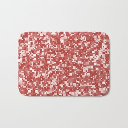 Aurora Red Pixels Bath Mat