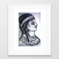 iron maiden Framed Art Prints featuring Maiden by David Ansted, Kosoof.