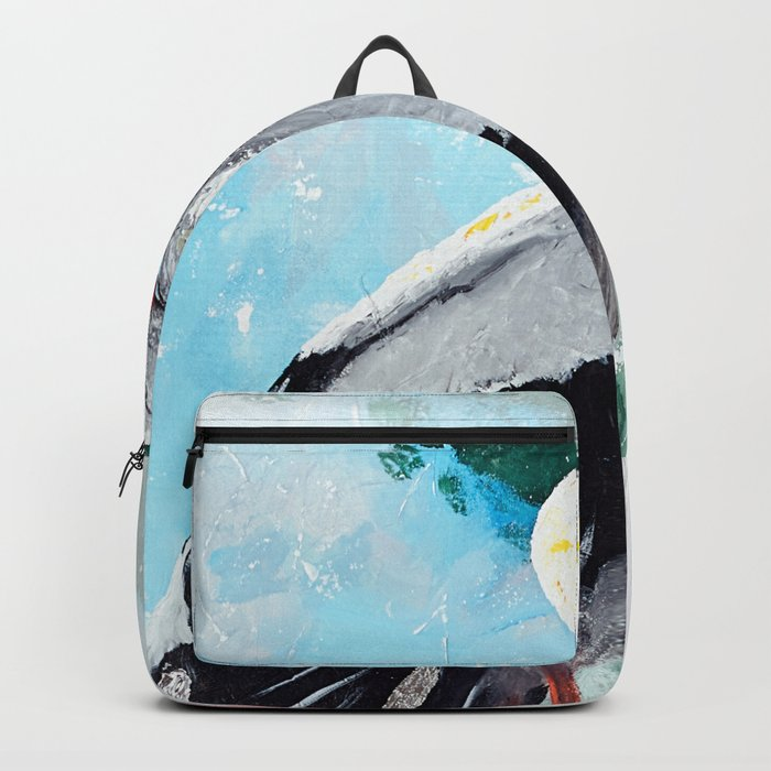 Animal - The beautiful stork - by LiliFlore Backpack