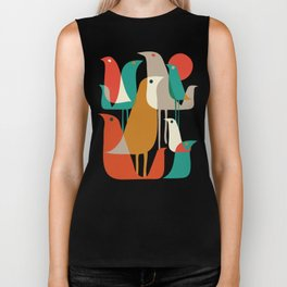 Flock of Birds Biker Tank