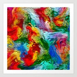 Magic Carpet Ride Abstract Art Print