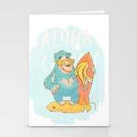 yeti Stationery Cards featuring YETI by Галина Дук