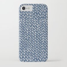 Hand Knit Navy iPhone 7 Slim Case