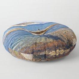 Blue Bay of Sardinia - Italy Floor Pillow