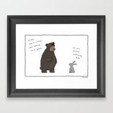 Bear Costume  Framed Art Print