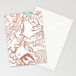 Sticker art pile-up#2 Stationery Cards