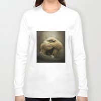study Long Sleeve T-shirts featuring Study of a Gibbon - The Thinker by Pauline Fowler ( Polly470 )
