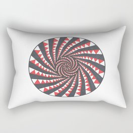 Red and Black Multi spiral Rectangular Pillow