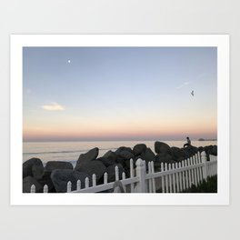 Oceanside, California evening sunset Art Print
