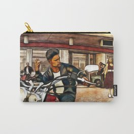 GREASERS and PREPPIES (Retro 1950s Biker Teen) Carry-All Pouch