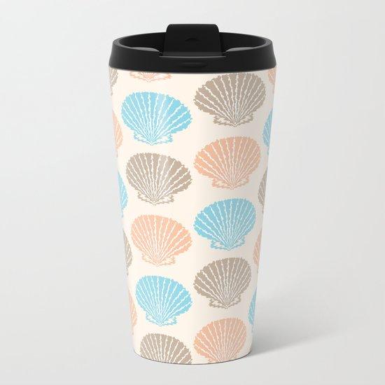 Pastel Marine Pattern 06 Metal Travel Mug