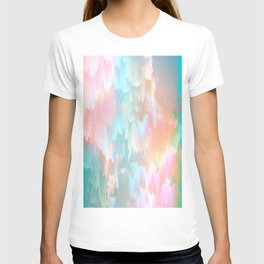 Candy Rainbow Glitch Fall #abstractart T-shirt