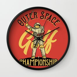 Outer Space Golf Championship Wall Clock