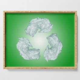 recycling eco symbol Serving Tray