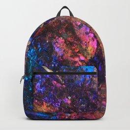 Blue Rainbow Oil Slick Crystals Backpack
