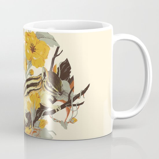 Chipmunk & Morning Glory Mug