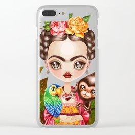 Frida Querida Clear iPhone Case