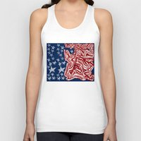 american flag Tank Tops featuring American Flag by Brontosaurus