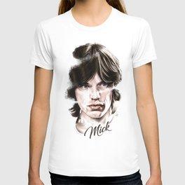 Mick portrait pencil and digital color, Rolling Stones portrait T-shirt