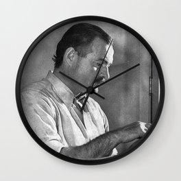 Ernest Hemingway Wall Clock