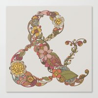 ampersand Canvas Prints featuring Ampersand by Valentina Harper