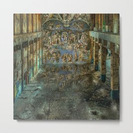 Apocalyptic Vision of the Sistine Chapel Rome 2020 Metal Print