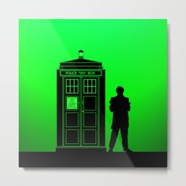 Tardis With The Second Doctor Metal Print