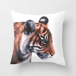 Sumatran Tiger Cub Throw Pillow