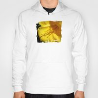 trumpet Hoodies featuring Yellow Trumpet by VioletRosePetals