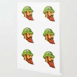 Leprechaun Head Side Drawing Wallpaper