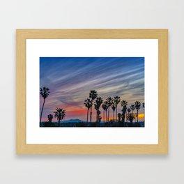 Sunrise at the River Jetties Framed Art Print