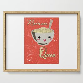 Ramen Queen Japanese Noodles Vintage Retro Style Serving Tray