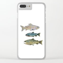 Rainbow Trout Clear iPhone Case