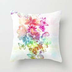 paisley flutter Throw Pillow