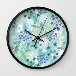 Abstract floral pattern. Wall Clock
