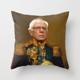 Bernie Sanders 19th Century Painting Throw Pillow