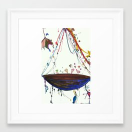 Diamond Ship Framed Art Print