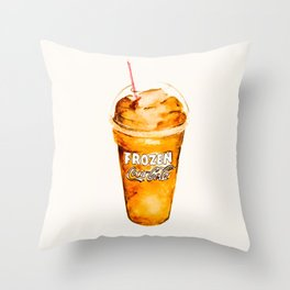 Coke Slush Throw Pillow