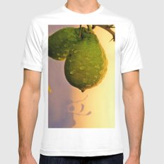 green lemon in the evening sun MEDIUM White Mens Fitted Tee