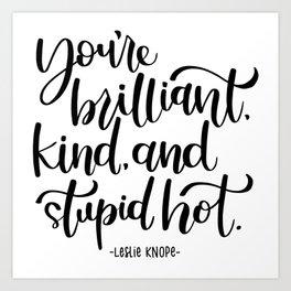 Leslie Knope Affirmation Art Print