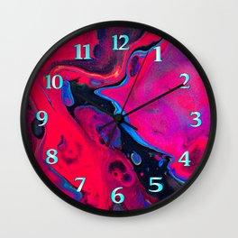 Neon Pink Fish Wall Clock
