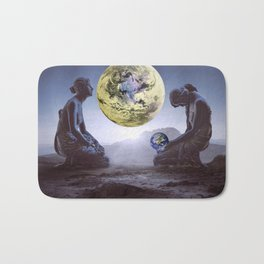 The World is in Our Hands Bath Mat