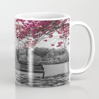 cherry blossom Mugs featuring Cherry Blossom by Claire Doherty
