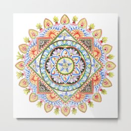 Passion Flower Mandala Metal Print