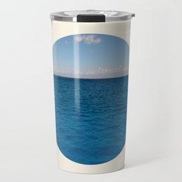 Water & Sky Horizon Round Photo Travel Mug